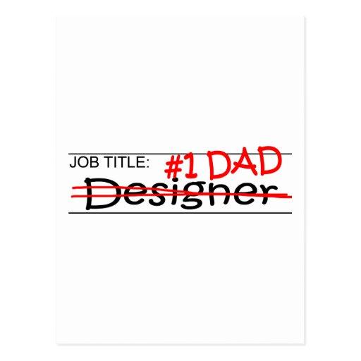 Job Dad Designer Post Card