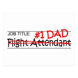 Job Dad Flight Attendant Post Cards
