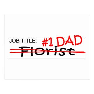 Job Dad Florist Postcard