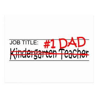 Job Dad Kindergarten Postcard