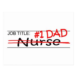 Job Dad Nurse Postcard