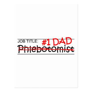 Job Dad Phlebotomist Post Cards