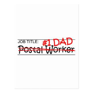 Job Dad Postal Worker Postcard