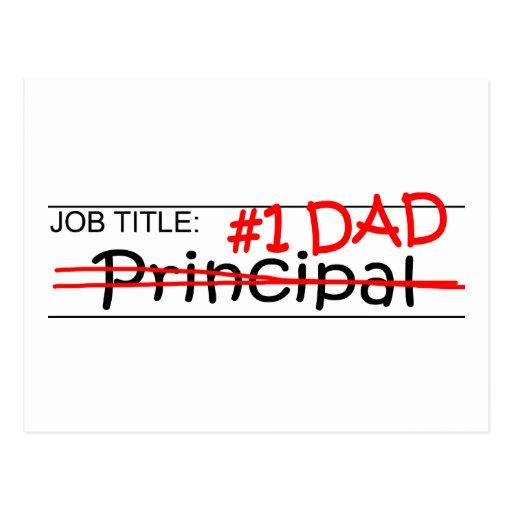 Job Dad Principal Postcards