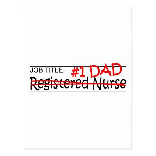 Job Dad Registered Nurse Post Card