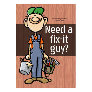 Job Hunting Handyman Fix-It Carpenter Painter Large Business Cards (Pack Of 100)