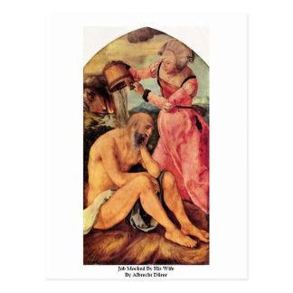 Job Mocked By His Wife By Albrecht Dürer Post Card