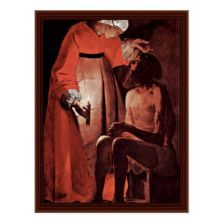 Job Mocked By His Wife,  By La Tour Georges De Postcard