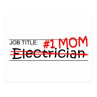 Job Mom Electrician Postcard