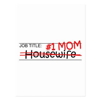 Job Mom Housewife Postcard