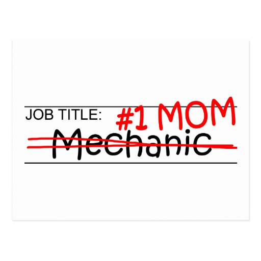 Job Mom Mechanic Post Cards