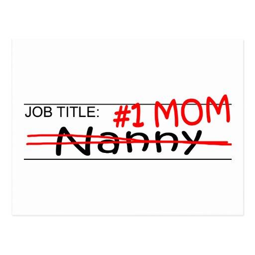 Job Mom Nanny Postcard