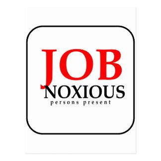Job Noxious persons present... Postcard