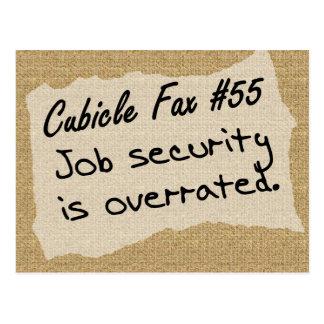 Job security isn't worth much postcard