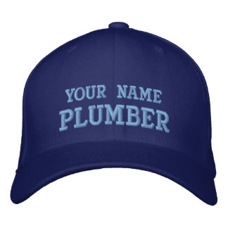 Job Tees Personal Name Plumber Hat Embroidered Baseball Cap