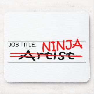 Job Title Ninja Artist Mouse Pad