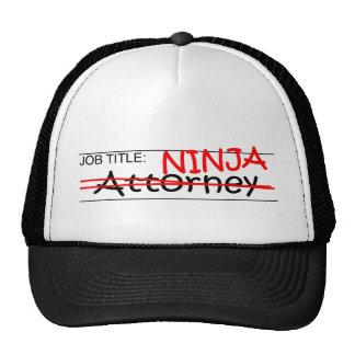 Job Title Ninja Attorney Cap