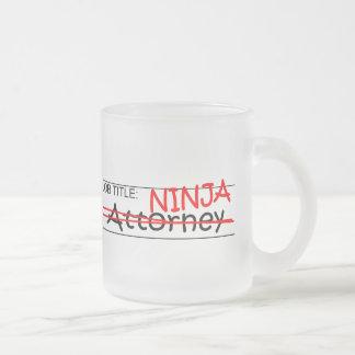 Job Title Ninja Attorney Mug