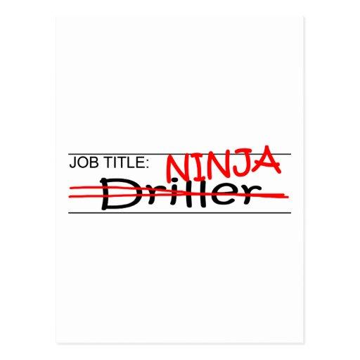 Job Title Ninja - Driller Post Card