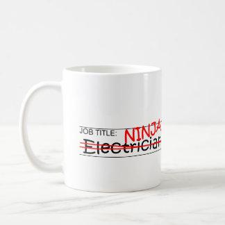 Job Title Ninja - Electrician Coffee Mug