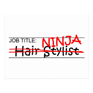 Job Title Ninja - Hair Stylist Postcard