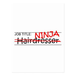 Job Title Ninja - Hairdresser Postcard