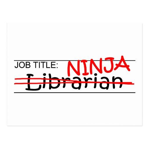 Job Title Ninja - Librarian Post Cards
