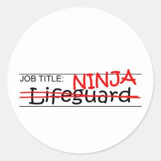 Job Title Ninja - Lifeguard Classic Round Sticker