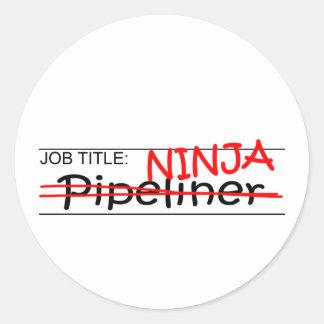 Job Title Ninja - Pipeliner Classic Round Sticker
