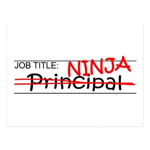 Job Title Ninja - Principal Post Card