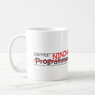 Job Title Ninja - Programmer Coffee Mug