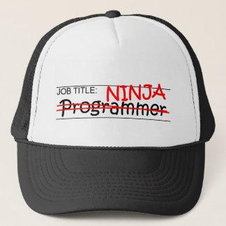 Job Title Ninja - Programmer Trucker Hat