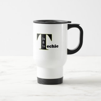 Job Title - Techie Stainless Steel Travel Mug
