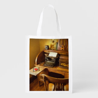 Job - Typist - A person with many interests Reusable Grocery Bag