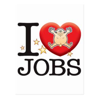 Jobs Love Man Postcard