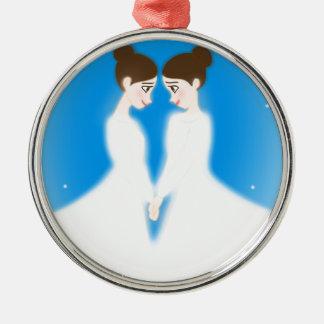 Jocelyn and Jasmine Metal Ornament