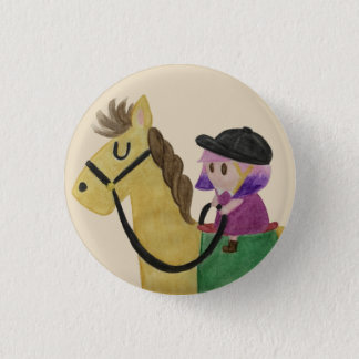 Jockey 3 Cm Round Badge