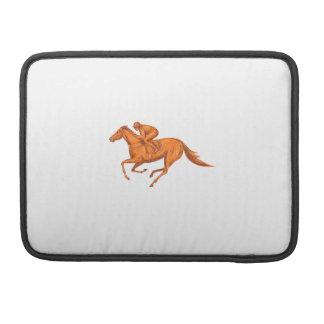 Jockey Horse Racing Drawing MacBook Pro Sleeves