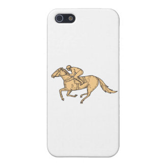 Jockey Horse Racing Side Mono Line iPhone 5/5S Cover