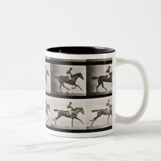 Jockey on a galloping horse, plate 627 from 'Anima Two-Tone Coffee Mug
