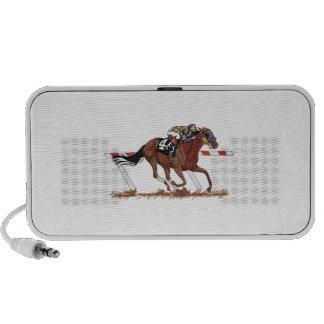Jockey on Racehorse Notebook Speakers