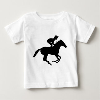 Jockey Riding Race Horse Silhouette Baby T-Shirt