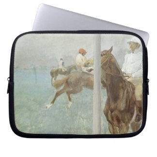 Jockeys Before the Race by Edgar Degas Laptop Computer Sleeves