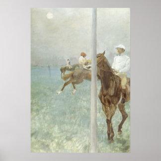 Jockeys Before the Race by Edgar Degas Poster