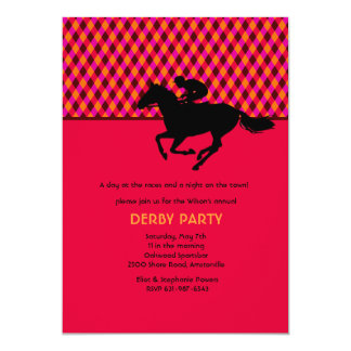 "Jockey's Pride Invitation 5"" X 7"" Invitation Card"