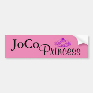JoCo Princess on pink Bumper Sticker