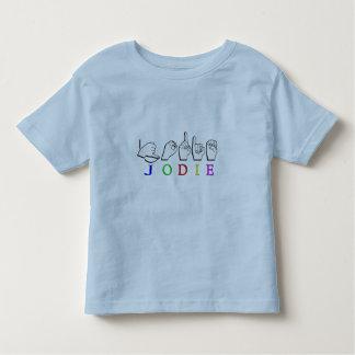 JODIE  NAME SIGN ASL FINGERSPELLED TODDLER T-Shirt