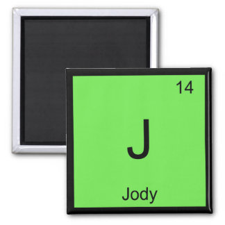 Jody Name Chemistry Element Periodic Table Square Magnet