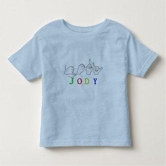 JODY  NAME SIGN ASL FINGERSPELLED SIGN TODDLER T-Shirt