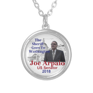 Joe ARPAIO AZ 2018 Silver Plated Necklace